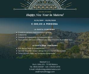 Offerte di Capodanno 2020 Sassi di Matera
